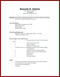Resume Sample For Students With No Work Experience How To Make A Resume For College Student With No Job Experience