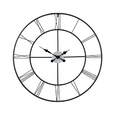 boston loft furnishings roma og round indoor wall clock