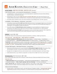 Gallery Of Sample Resume Executive Chef Position Chef Resume