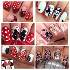 Mickey Mouse Minnie Mouse nails love disney baby shower nails pink red  black silhouette | Minnie mouse nails, Baby shower nails, Minnie mouse nail  art