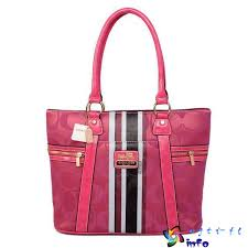 Pink In Dexterous Price Coach Zip Signature Medium Totes