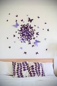 4 Butterfly Wall Art Decor Ideas Purple Handmade