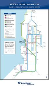 Seattle Transit Map Light Rail New Sound Transit Regional Map Seattle Transit Blog