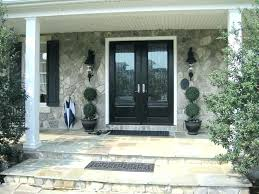 wood entry doors with glass exterior front door panels
