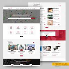 Classified Ads Posting Website Psd Template Psd File