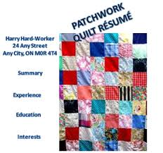 How a Patchwork Quilt Résumé Could Damage Your Brand | Career Musings & Wikipedia's Definition ... Adamdwight.com