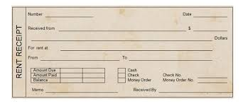 printable rent receipt template printable rent receipt