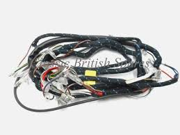 bsa lucas cloth bound main wiring harness 54955258 1969 70 a50 a65 cloth bound lucas wiring harness for bsa 54955258