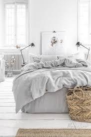 linen bedding set in light gray king