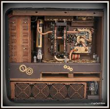 steampunk d pc case mod all dd in retro makeover of a powerful cpu