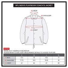 Amazon Com Icer Brands Nfl Mens Coaches Jacket Waterproof