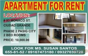 Photo #1 Apartment For Rent In Metro Manila, Pasig