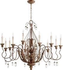 quorum 6344 12 39 venice 12 light chandelier vintage copper