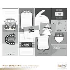 Well Travelled Pocket Card Templates