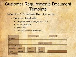 requirements document template customer requirements document template youtube