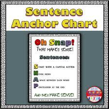 Sentence Anchor Chart Oh Snap