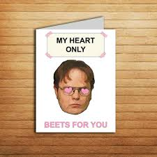 michael scott s letter of recommendation for dwight the office card dwight schrute farms beet funny birthday card love anniversary gift for boyfriend romantic gifts us office tv show printable