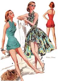 1950s Dress Patterns Fascinating 48s Sewing Patterns Swing And Wiggle Dresses Skirts