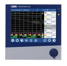 Jumo Logoscreen 600 3 Analogue 6 Digital Channel Paperless Chart Recorder