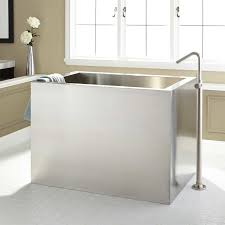 Get Exciting Bathroom Ideas In Asian Style With Small Japanese Square Japanese Soaking Tub
