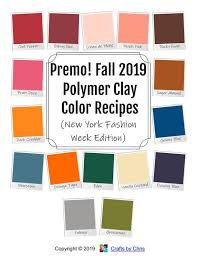 Premo Color Mixing Chart Premo Brand Polymer Clay Color Recipe Ebook For Fall 2019 New York Edition Polymer Clay Color Mixing Tutorial