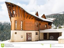 Modern Wood House Beautiful Modern Wooden House Covered In Snow Ski Resort Donovaly