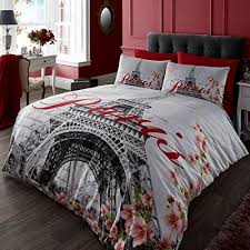 Classic Red, Black And White Eiffel Tower, (UK Double/USA Full ... & Classic Red, Black And White Eiffel Tower, (UK Double/USA Full) · Red Duvet  CoverQuilt ... Adamdwight.com