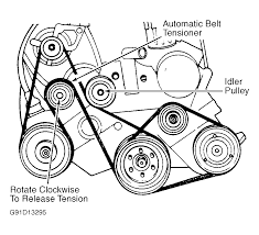 1993 plymouth grand voyager serpentine belt routing and timing