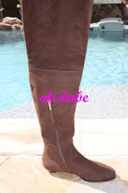 jimmy choo chocolate brown otk edna thigh high flat suede boots 38 8 nib 1195