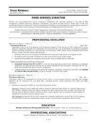 Manager Resume Objective Examples Catering Sales Manager Resume Interesting Food Service Manager Resume