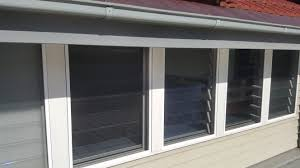 louvre fly screen with install channels no exposed s or swivel clips 154 each installed
