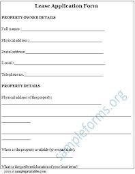 Printable Lease Application Form Rental Agreement Pdf – Onbo Tenan