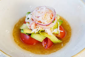 Fresh Salad With King Crab Meat And ...
