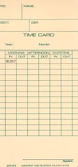 Acroprint Atr414 Biweekly Time Card