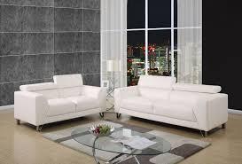 white sofa and loveseat. Bruno White Or Grey Fabric Sofa And Loveseat