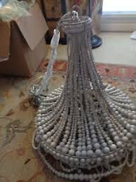 pottery barn francesca beaded chandelier brand new one small issue