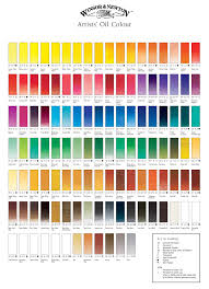 Artist Colour Mixing Chart Winsor Newton Artists Oil Paint Colour Chart In 2019