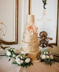 gold and pink wedding cake my wedding ideas