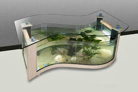 We have no idea how this Taiwanese-made coffee table aquarium works, but it  sure looks fancy. Designs like this demonstrate the potential for someone  to ...