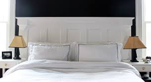 bedroom barn door headboard for white shade table lamp on wooden bed side black