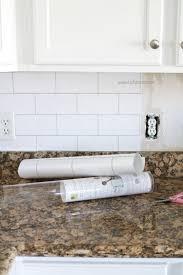 faux subway tile backsplash this is wallpaper looks like real tile