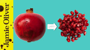 How To De-Seed A <b>Pomegranate</b>   Jamie's 1 Minute Tips - YouTube