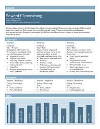 Resume Chart 17 Infographic Resume Templates Free Download Hloom