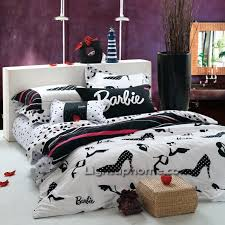 Black and White Barbie Comforter Cover And Sheet