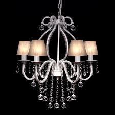 modern crystal clear ceiling lighting chandelier 6 light lamp pendant fixture