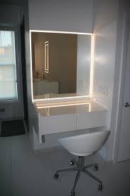 Bathroom Mirror with LED Lightning Aluminum Glass Cabinet Doors
