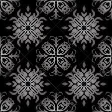 Gotische Stijl Zwart En Wit Naadloze Geïllustreerde Behang