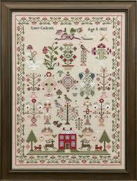 Just Stitching Along Lucy Calcutt 1825 Sampler Chart