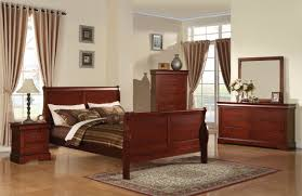 Louis Bedroom Furniture Louis Phillipe Iii Sleigh Bedroom Set In Cherry