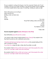 Letter Of Complain Template Sample Letter Of Complaint 9 Examples In Word Pdf